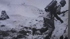 Italian flamethrower assault unit during an attack on British positions. Tunisian Front.