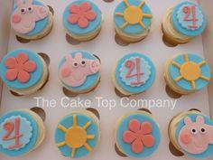 Birthday Peppa Pig Fondant Cupcake Toppers by TheCakeTopCompany