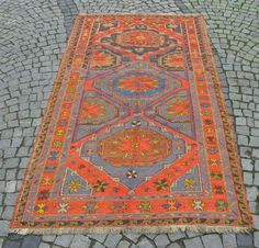 Vintage Hand Wovenkilim Rug This Handwoven Kilim Carpet Is Coming From Nomadic Areas Of