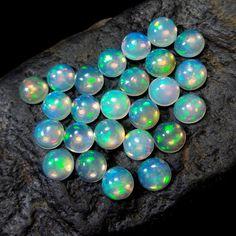 1 Ethiopian Opal solid gemstone cabochon  Opal by CoyoteRainbow