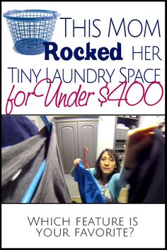 This mom of 6 rocked her tiny laundry space for UNDER $400. We are loving ALL of the tips and tricks!