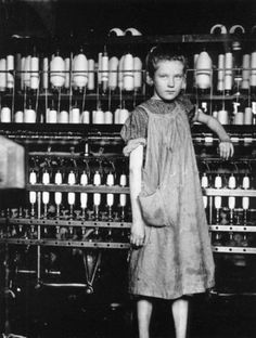 Lewis Hine • Girl Worker in a Carolina Cotton Mill 1908