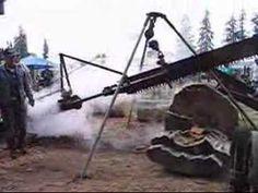 Steam Driven Log Saw (drag saw)