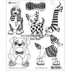 Dyan Reaveley's Dylusions Cling Stamp Puppy Dog Tales