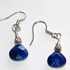 SOLD Sodalite, faceted, silver blue, wirewrapped, drop gemstones | daffydill - Jewelry on ArtFire