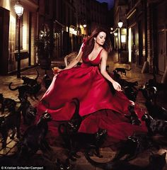 Penelope Cruz Stuns in Red for Campari Calendar by Kristian Schuller | Who Designed It?