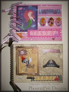 My first ever Autograph books - Princess and Pirate Mickey (Disney) - PAPER CRAFTS, SCRAPBOOKING & ATCs (ARTIST TRADING CARDS)