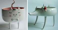 "Adorable Animal Ceramics By Polish Artist ""Clay Opera"" 