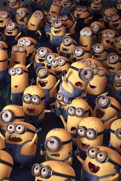 Minions from Despicable Me.Lots of Minions!