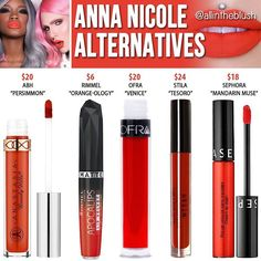 Dupes for Jeffree Star's Anna Nicole lipstick Drugstore Makeup Dupes, Lipstick Dupes, Beauty Dupes, Liquid Lipstick, Matte Lipsticks, Jeffree Star, Makeup Inspo, Makeup Inspiration, Batons Matte