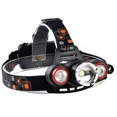 XANES XQ-117 1000 Lumens T6 + 2x LED Bicycle Headlight Outdoor Sports 4 Modes Adjustable Headlamp