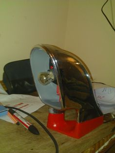 upcyled Lamp. Car mirror