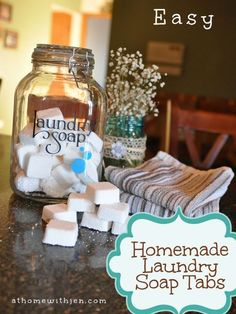 Laundry Detergent Tabs - Works in HE washers Homemade Laundry Detergent Tabs with Essential Oils! Quick and easy recipe to make your own laundry soap.Homemade Laundry Detergent Tabs with Essential Oils! Quick and easy recipe to make your own laundry soap. Homemade Cleaning Products, Cleaning Recipes, Natural Cleaning Products, Cleaning Tips, Natural Products, Diy Laundry Detergent, Homemade Laundry Detergent, Cleaners Homemade, Diy Cleaners