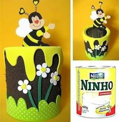 18 Fabulosas ideas y tutoriales para decorar latas de leche recicladas ~ lodijoella