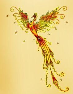 Výsledek obrázku pro feminine phoenix tattoo