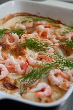 Vegetarian Recipes, Cooking Recipes, Danish Food, Shrimp Dishes, Pudding Desserts, Swedish Recipes, Fish And Seafood, Fish Recipes, Food Inspiration