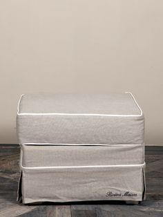 €399,- Kensington Hocker 57x57 Linen #living #interior #rivieramaison