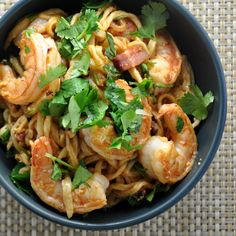 Homemade Ramen Noodles in a Bacon & Shrimp Stir Fry for Two - Pinch and Swirl