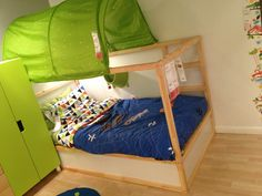 Ikea Reversible Twin Bed Becomes A Lofted Or Bunk Beds When They Are Ready