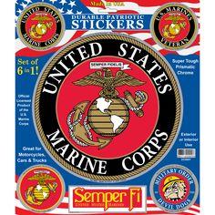 U.S. Marine Corps Patriotic Car Decals