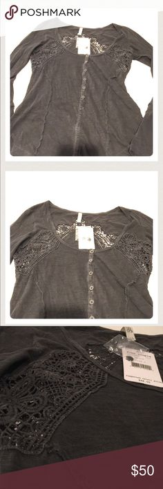 Free People NWT Free People to0 NWT. Tag says black, it's concrete color. E16DK10 Free People Tops