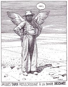 Portrait of Jacques Tardi by Moebius