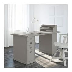 IKEA - KLIMPEN, Drawer unit, gray, , Can be placed anywhere in the room because the back is finished.Drawer stops prevent the drawers from being pulled out too far.Slot for a label on each drawer so you can easily keep things organized and find what you are looking for.