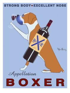 Boxer + Wine.