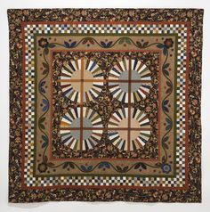 Wheel Medallion quilt, 77″ x 77″,  2014 by Susan Dague Quilts