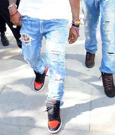 Kanye/Balmain jeans.