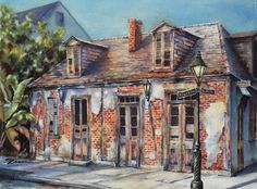 Lake Charles, LA artist, Sue Zimmermann created this scene entitled Lafitte's Blacksmith Shop using watercolors on paper. See more work on her website! Watercolor Paintings, Original Paintings, Watercolors, New Orleans Art, New Orleans French Quarter, Digital Art Gallery, Thing 1, Blacksmithing, Pen And Wash