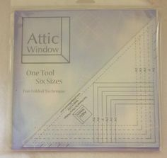 Attic Windows Tool, Designed by Cheryl Phillips for Phillips Fiber Art, One Simple Tool with So Many Possibilities! Makes Six Sizes