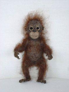 Needle Felted Baby Orangutan | Flickr - Photo Sharing!
