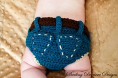 Denim Diaper Cover Crochet Pattern by DarlingDerriere on Etsy. $4.50, via Etsy.