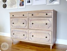 DIY Furniture | Get the FREE project plans to build this gorgeous Ballard-inspired dresser with curved molding and turned feet!