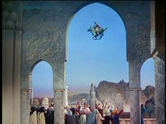 A flying horse in The Thief Of Baghdad, 1961.