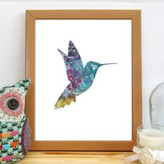 Hummingbird Print, Nursery Decor, Hummingbird Art, Printable Wall kmArt, Bird Decor, Instant Download