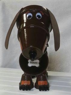 Decorative Dachshund/ Weiner Dog Flower Pot