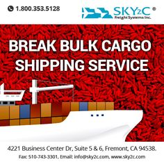 If you are wondering why should you choose ‪#‎Break_Bulk‬ ‪#‎Cargo‬‪#‎Shipping‬ Service for Transportation of goods then we have the answer to your question - Call us at 510-743-3300.
