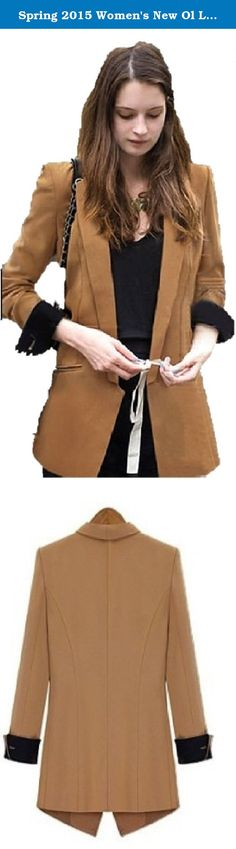 Spring 2015 Women's New Ol Long Slim Suits Suit Jacket Long Linen Suits Casual Formal Womens Jacket. Attractive Formal/Casual long suit jacket. Available in S, M, L, XL, XXL, 3XL & 4XL S: Shoulder: 35.8 Chest:87 Waist: 78 Length: 67.2 Sleeve: 58.5 M: Shoulder: 36.8 Chest:91 Waist: 82 Length: 68.2 Sleeve: 59.5 L: Shoulder: 37.8 Chest:95 Waist: 86 Length: 69.2 Sleeve: 60.5 XL: Shoulder: 39.8 Chest:99 Waist: 90 Length: 70.2 Sleeve: 61.5 XXL: Shoulder: 40.8 Chest:103 Waist: 94 Length: 71.2...