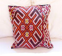 KILIM PILLOW | MOROCCAN Kilim Pillow | Vintage Kilim Cushion | 18.5x17 by MoroccanMaison on Etsy