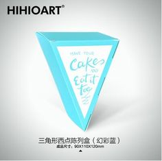 New product custom food grade cardboard triangle cake box from china
