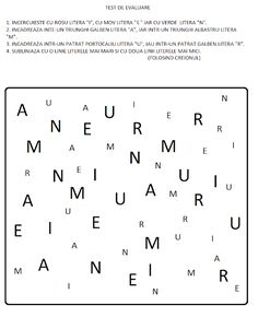 EDUCATIA CONTEAZA : LITERELE: A, M, N, U, I, E SI R Kids Education, Alphabet, Math Equations, Simple Lines, Alpha Bet