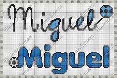 Resultado de imagem para monograma ponto cruz miguel