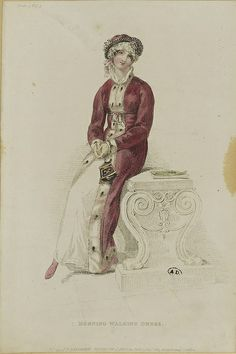 1813, Ackermann's Repository. Morning Walking Dress.
