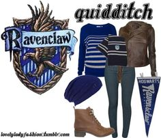 Ravenclaw from Harry Potter Harry Potter Style, Harry Potter Outfits, Harry Potter Theme, Harry Potter World, Ravenclaw Quidditch, Character Inspired Outfits, Fandom Fashion, Nerd Fashion, Inspired Outfits