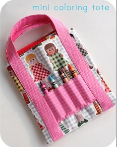 coloring book bag... and many other links to fat quarter projects