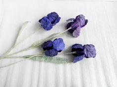 1 piece of Iris paper flower iris paper iris by MyrtleAndQuince