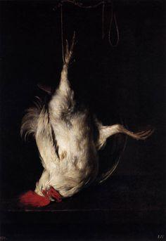 Gabriel Metsu -  Dead Cock - Oil on panel, 57 x 40 cm,  Museo del Prado, Madrid