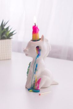 No Kidding — This Unicorn Candle Is SO Cute, You Just Might Weep